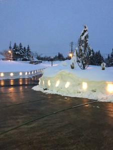 龍氣の雪灯籠