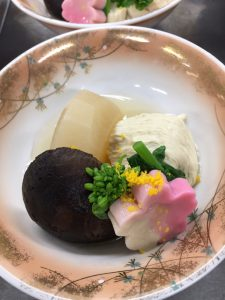 生湯葉と菜の花の炊き合わせ