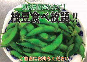 枝豆食べ放題